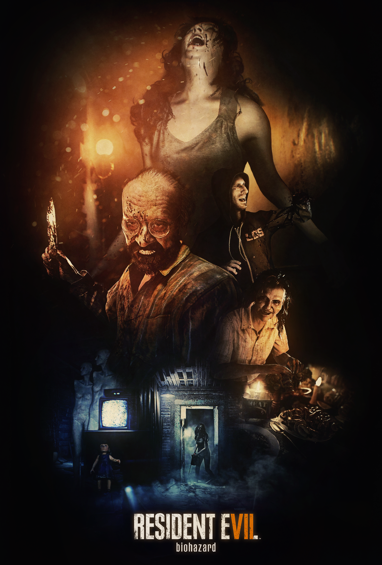 Fan Poster Re7 Welcome To The Family Latestgames Pinterest Resident Evil Revelations Ps4 Region 3 English Vii
