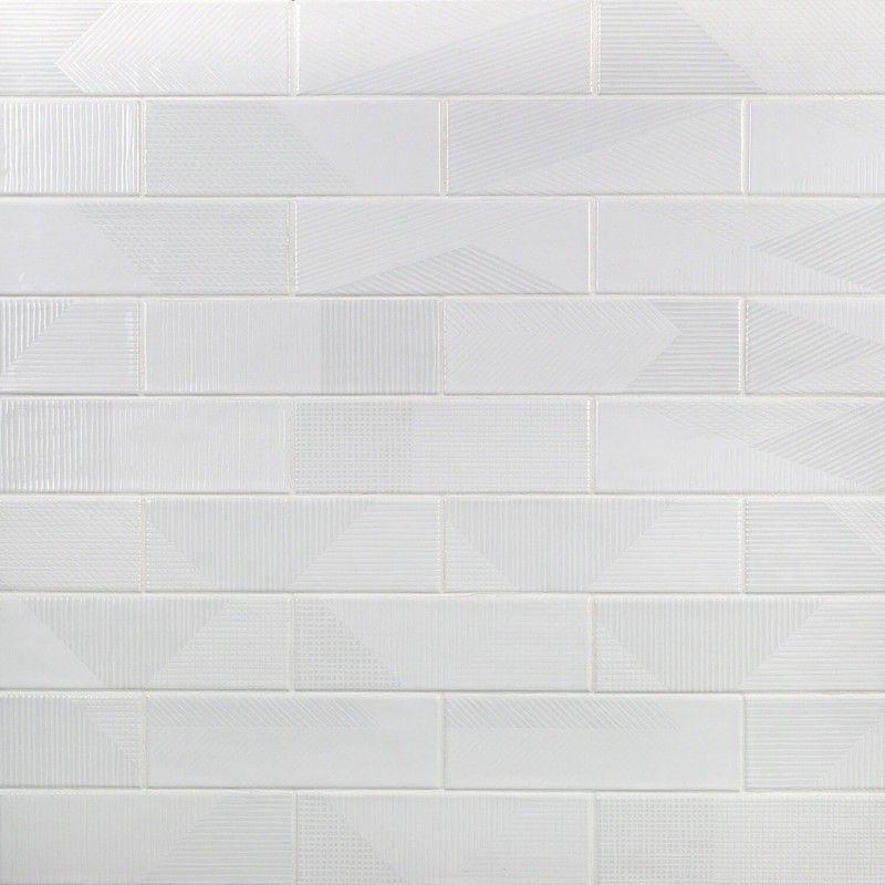Enigma White 2x8 Polished Ceramic Tile Polish Ceramics
