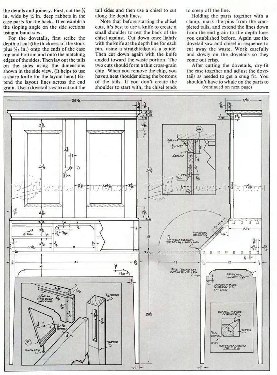 Secretary Desk Plans Desk Plans Secretary Desks How To Plan