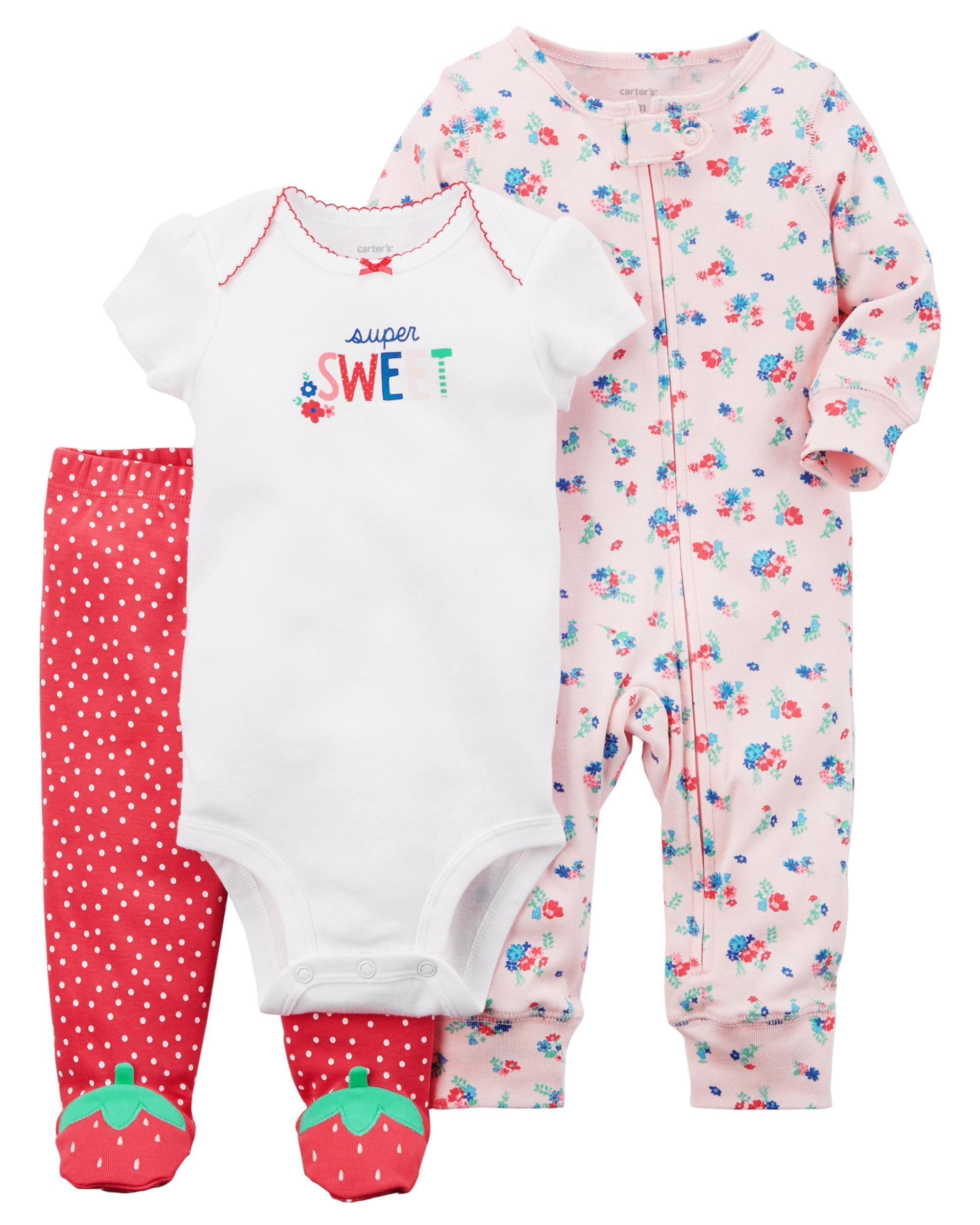 3da1308b9326b 3-Piece Strawberry Sleep & Play Set | everything baby girl | Carters ...