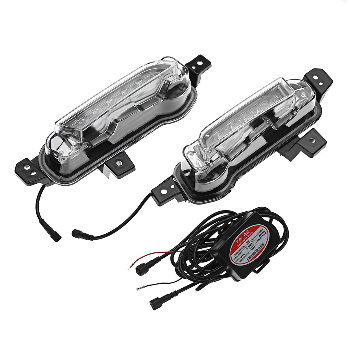 Pair Dual Color Car Daytime Running Lights Fog Lamp for