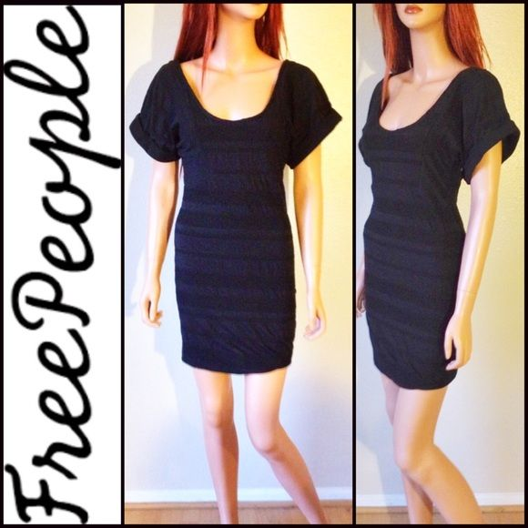 FREE PEOPLE Black Dress Sz S Excellent preloved  condition! Free People Dresses