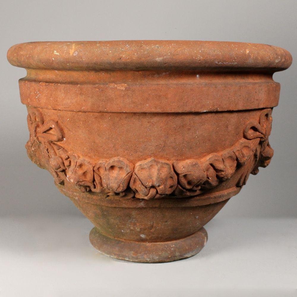 A Rare Very Large Compton Poppy Pot Arabesque Garden Furniture Compton