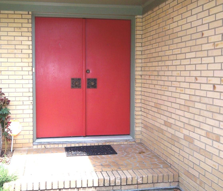 Mid century modern double front doors mid century mo