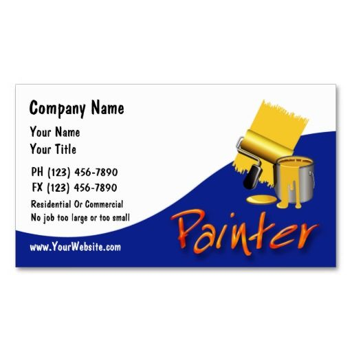 Painter Business Cards Zazzle Com In 2021 Painter Business Card Business Card Design Inspiration Business Cards