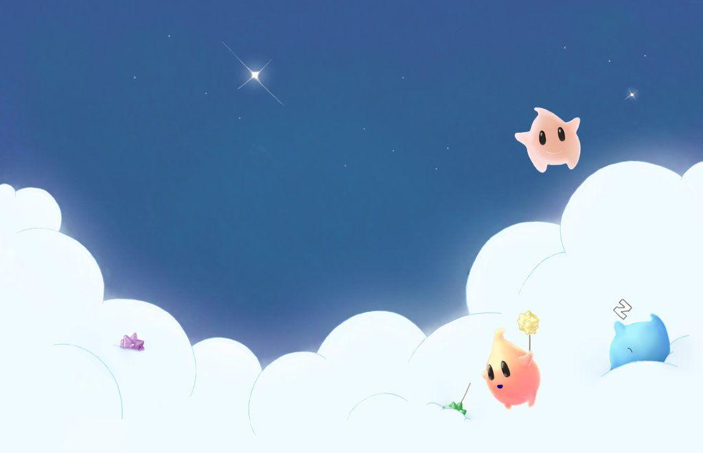 Mario Galaxy Lumas Free Background By Tzarinaregina On Deviantart Cool Pixel Art Galaxy Background Mario