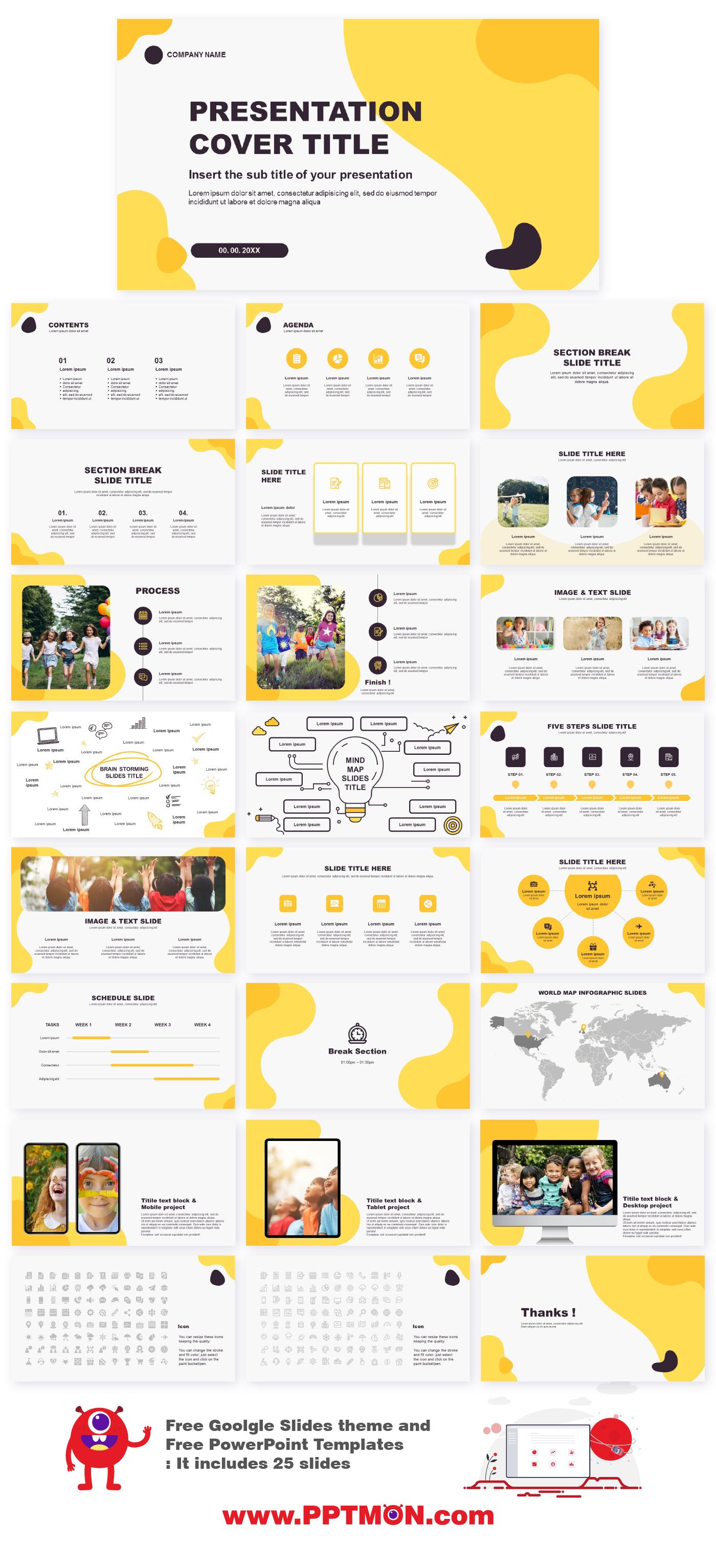 Wave Abstract Free Powerpoint Templates And Google Slides Theme By Pptmon Com ออกแบบเว บ การออกแบบโบรช วร เค าโครงการนำเสนอ