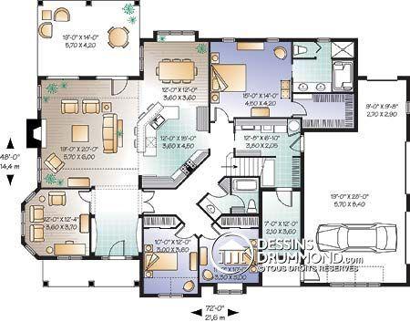 Détail du plan de Maison unifamiliale W3234 Maisons plan - image de plan de maison