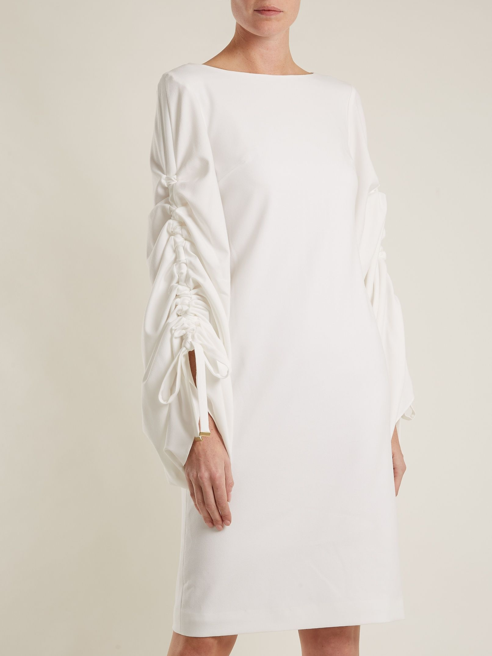 Talitha gathered-sleeves dress Osman SdJY3oR