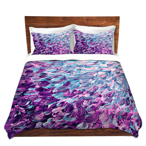 Duvet Cover Sets Bed Covers, Purple And Turquoise Ombre Bedding