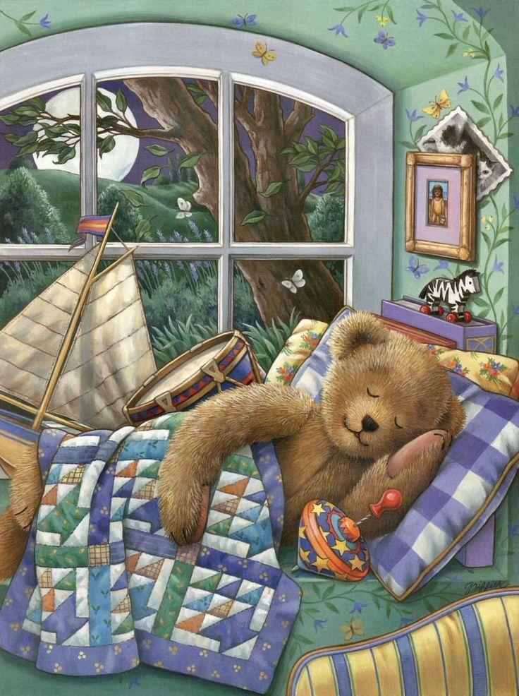 Картинки сонный мишка