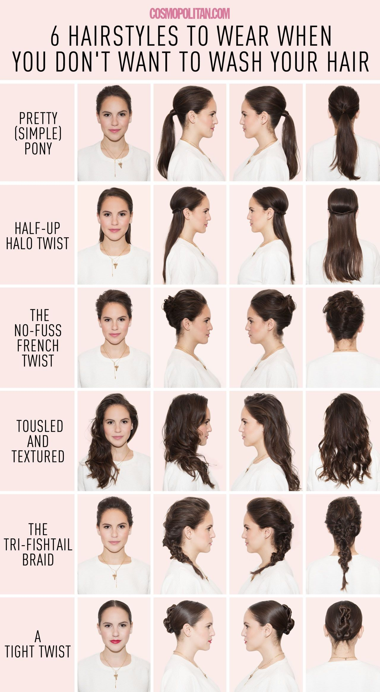 hairstyles that you can do if you have not washed your hair