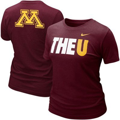 Nike Minnesota Golden Gophers Ladies My School Local Tshirt Maroon