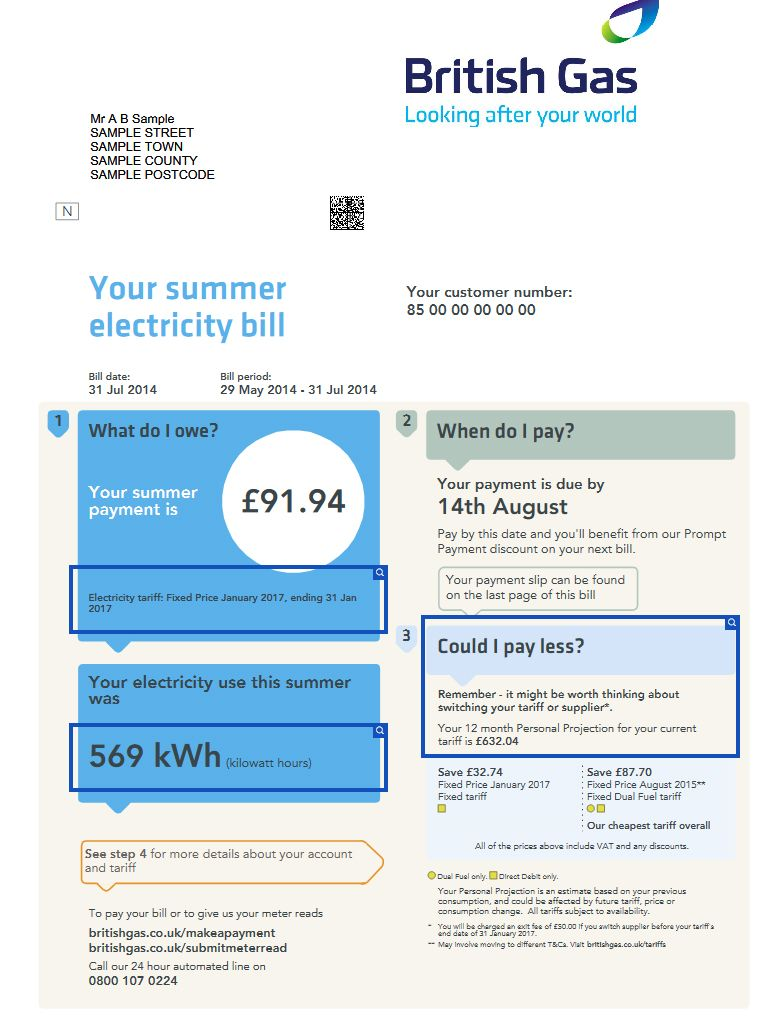British gas utility bill design pinterest energy bill british gas page 1 pronofoot35fo Images