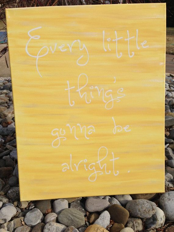 Every little thing is gonna be alright. Bob Marley lyrics. Word art ...