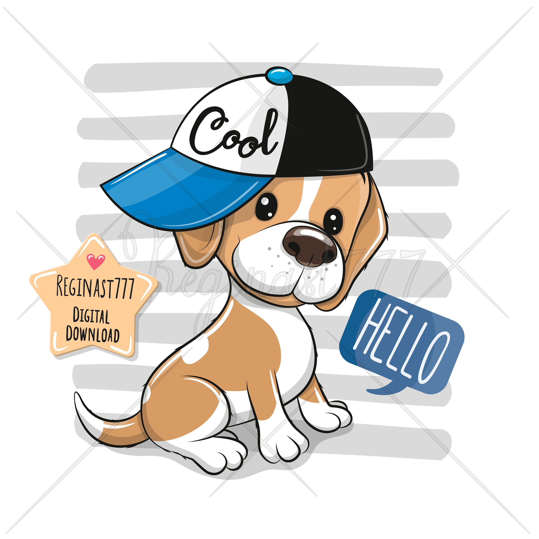 Cute Puppy Png Digital Download Dog Clipart Beagle Clipart Children Printables Girl Nursery Print Scrapbooking Baby Shower Wallart Baby Animal Prints Beagle Animal Nursery