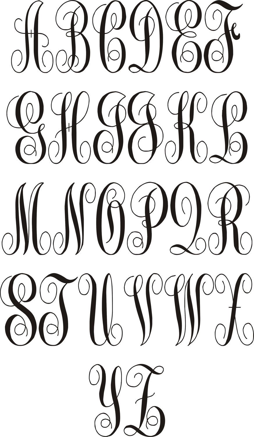 Lettering vinyl inspiration pinterest fonts