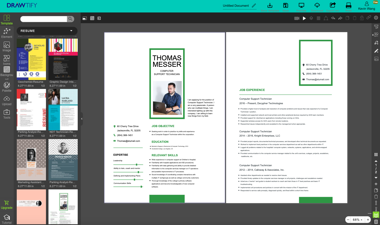 Pin on Free Resume template