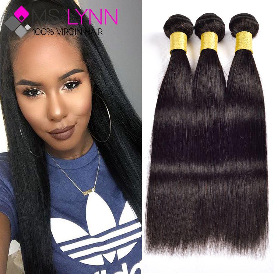 Peruvian Virgin Hair Straight Human Hair 7A Unprocessed Peruvian Straight Virgin Hair 3 Bundles Virgin Peruvian Hair Bundles