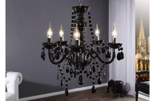 lustre baroque noir anastasia. Black Bedroom Furniture Sets. Home Design Ideas