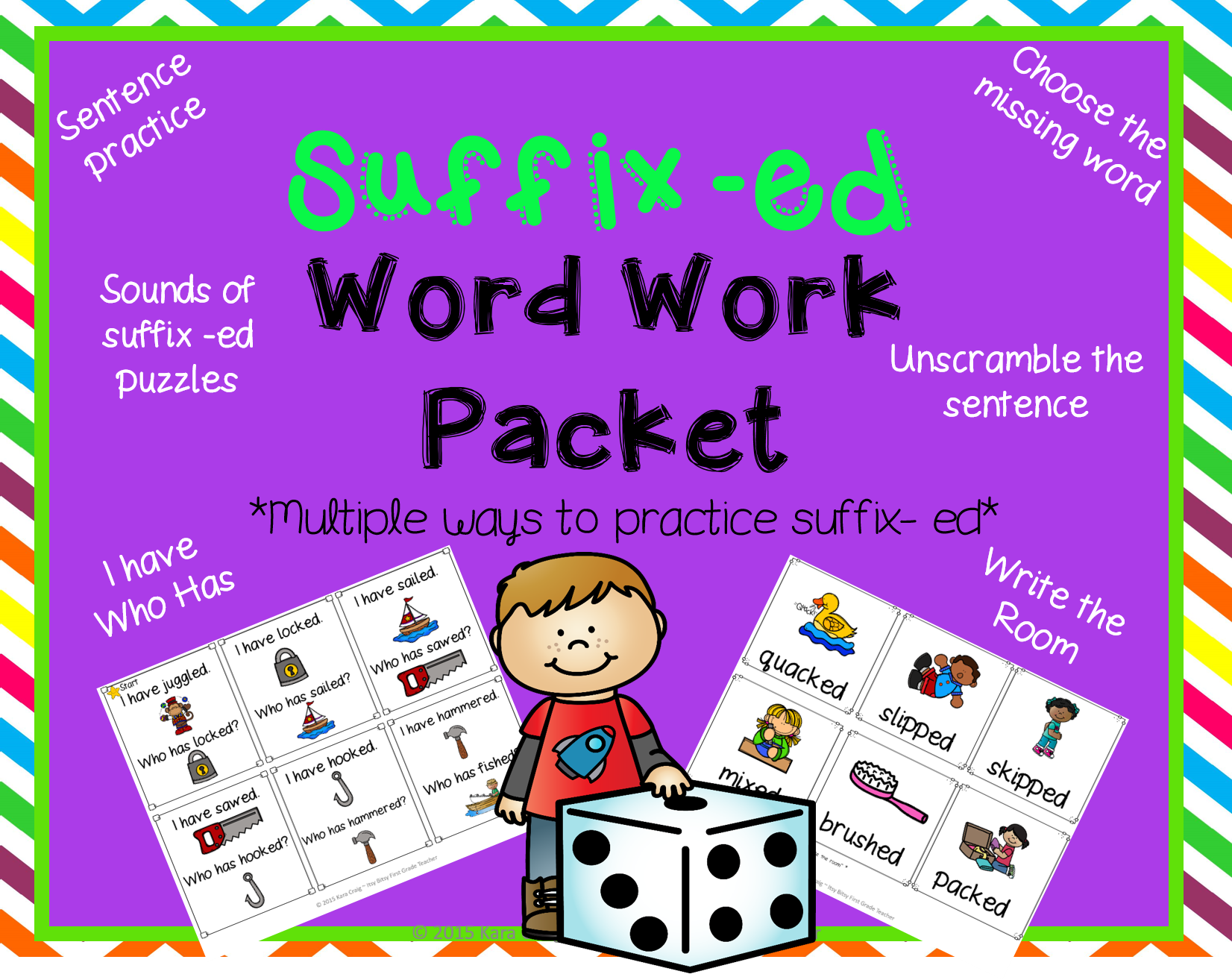 Suffix Ed Word Work