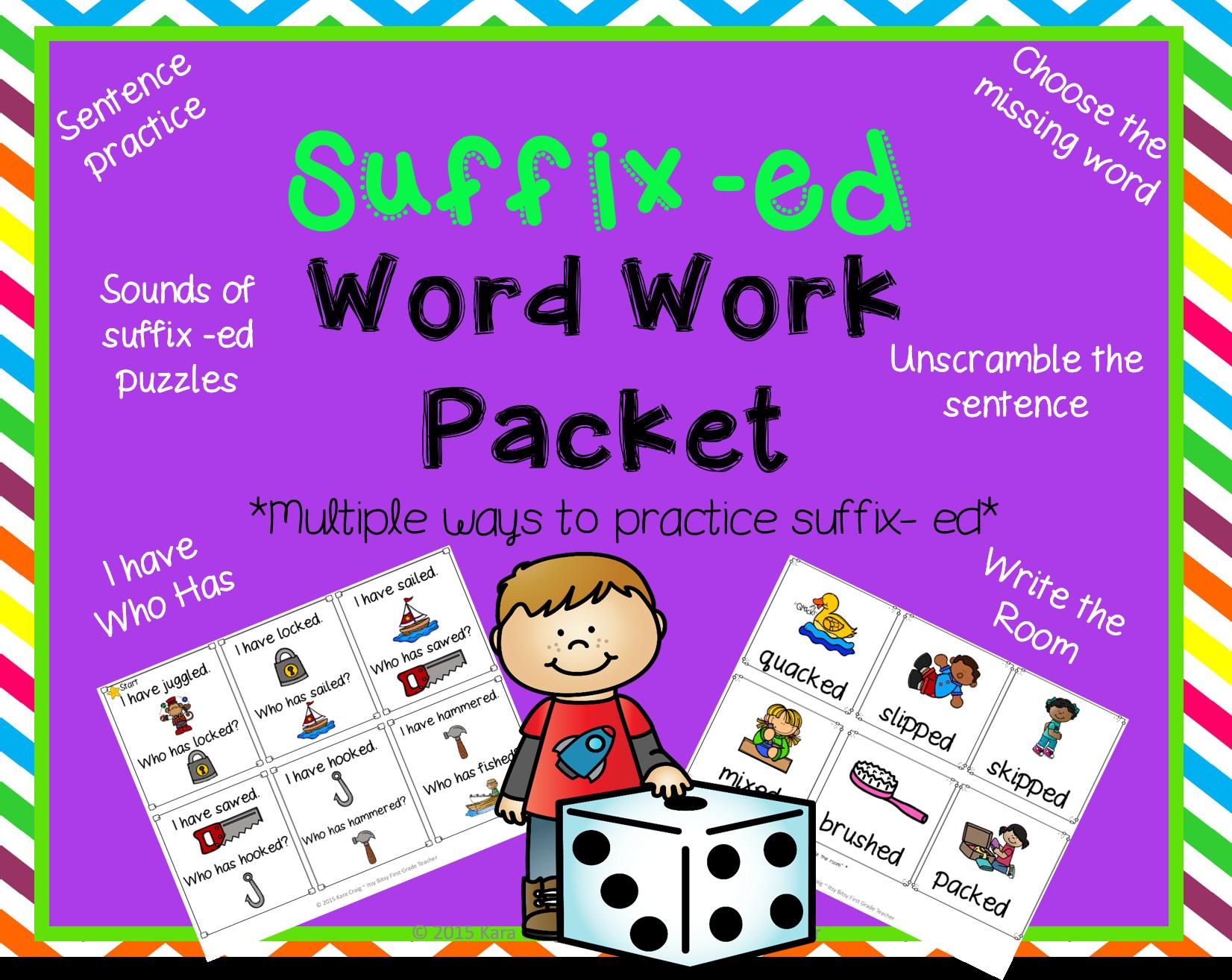 Suffix Ed Word Work