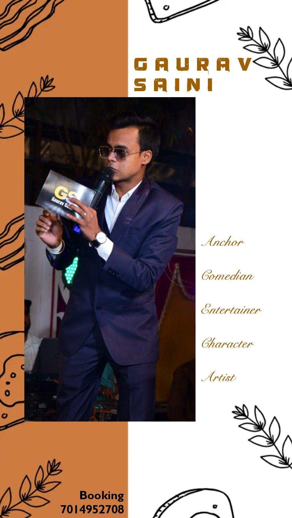 #anchorgaurav #emceegaurav #anchor #emcee #entertainer #comedian #characterartist #gauravsaini #ag #anchorgauravsaini #showposter #anchorinrajasthan #bestanchor #bestmaleanchor #theatreartist