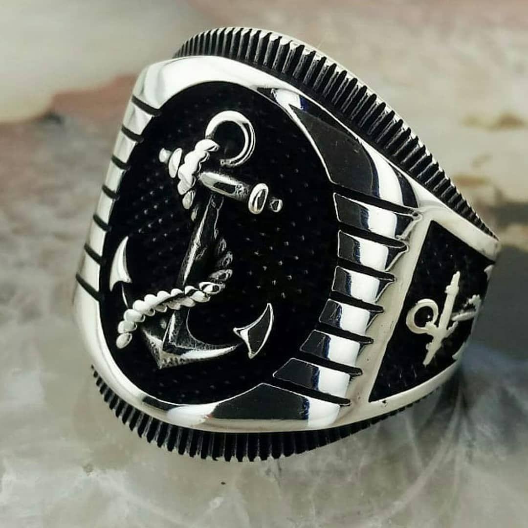 خاتم فضة 925 خاتم المرساةالسعر 265 ريال سعودي Turquoise Silver Bracelet Silver Accessories Silver Braided Ring