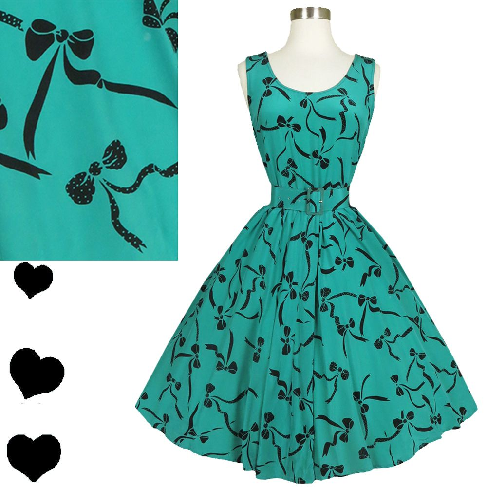 Vintage 80s Bow Print Novelty Silk Dress M, $95.00 | Clothes and ...