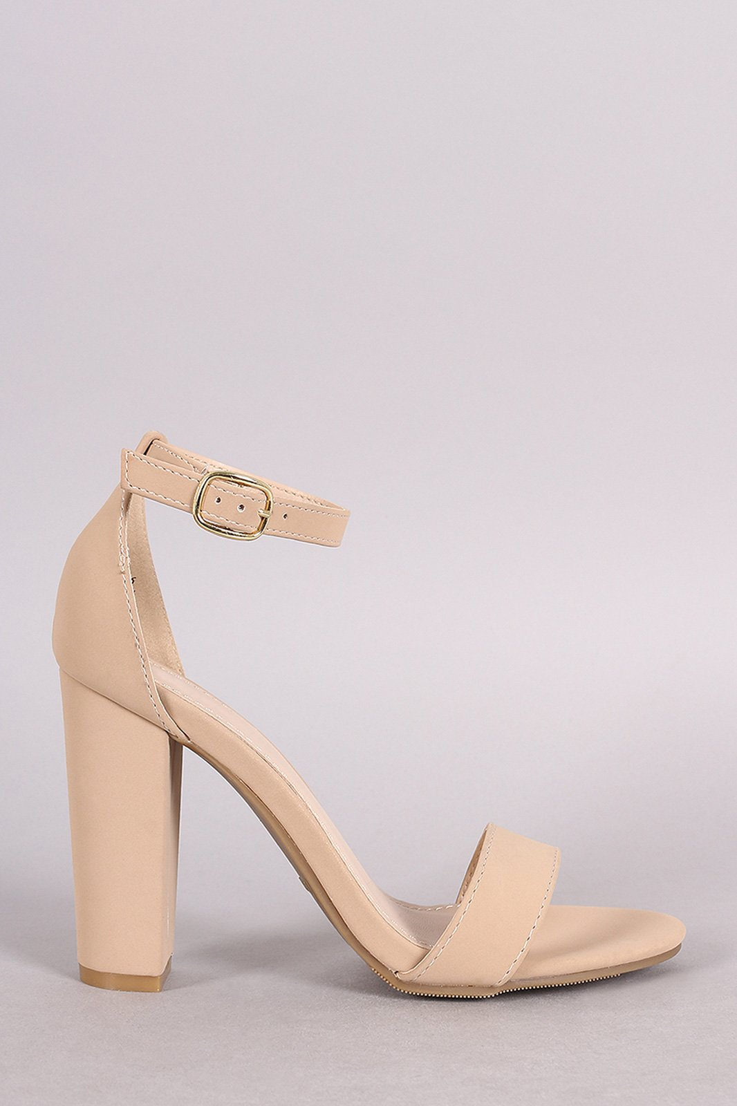 08ca9bac4e9 This alluring heel features a single band across vamp, open toe ...