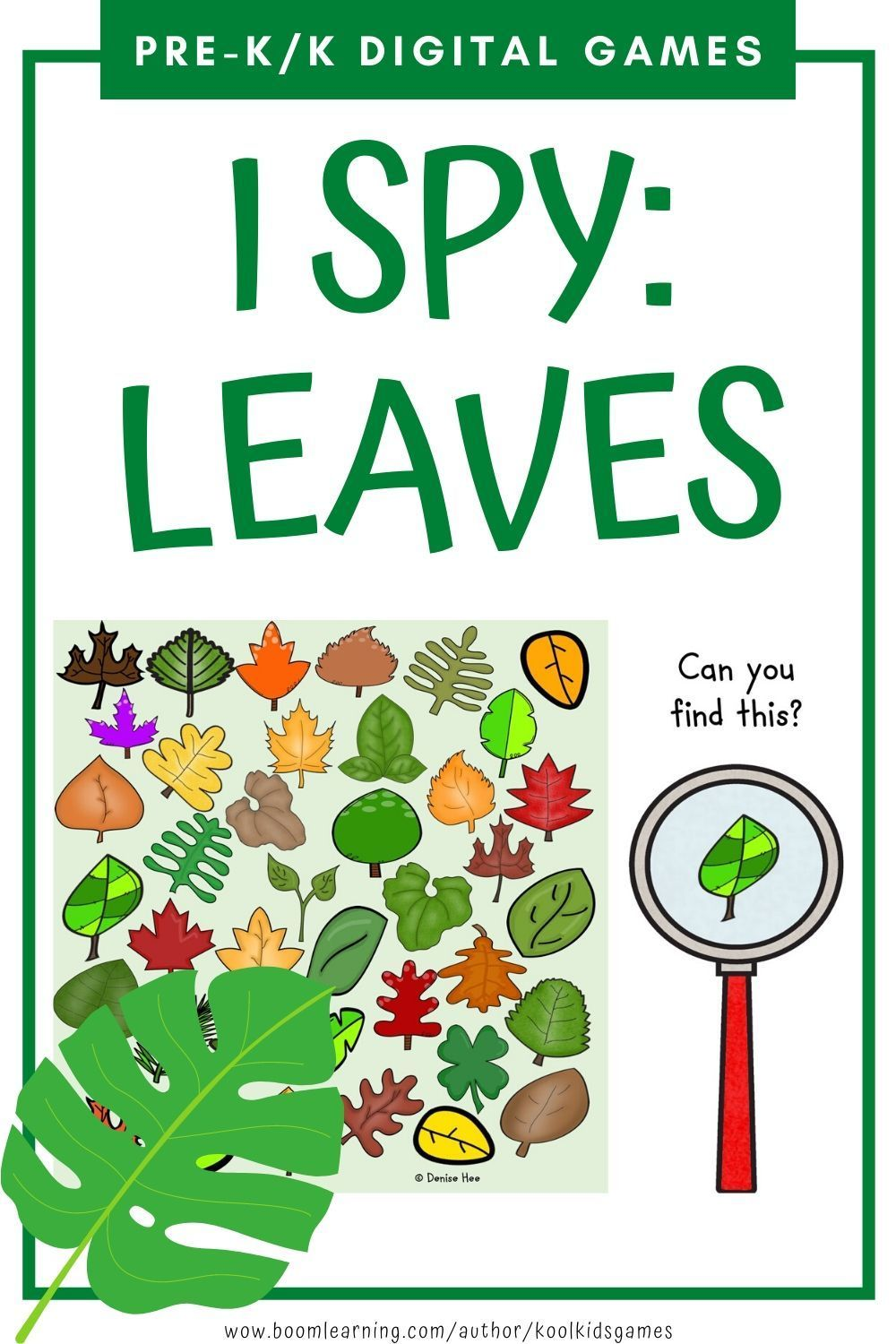 I Spy Leaves Boom Cards Distance Learning Fun Educational Activities Business For Kids Fun Games For Kids [ 1500 x 1000 Pixel ]