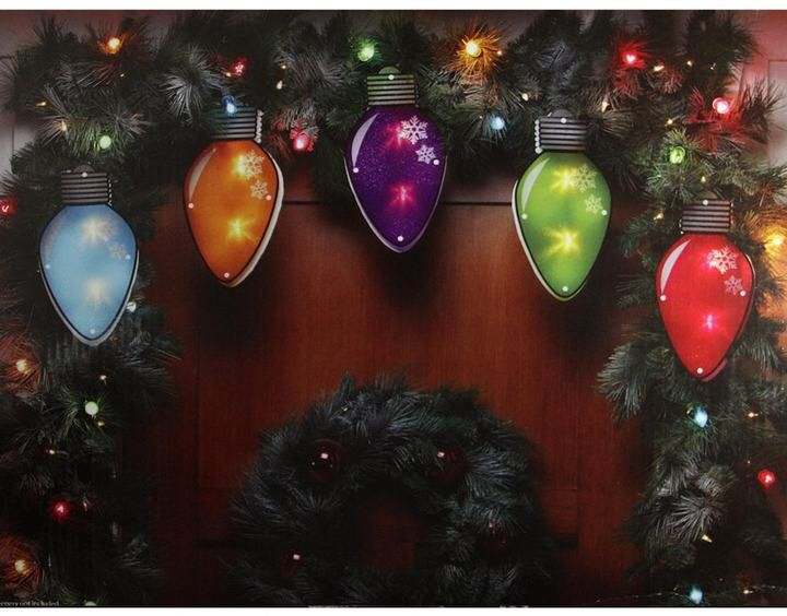 10 light multi colored bulb indoor outdoor christmas lights