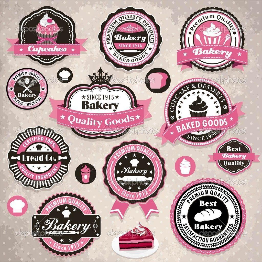 Descargar - Marco vintage con plantilla de etiqueta de pastel de ...