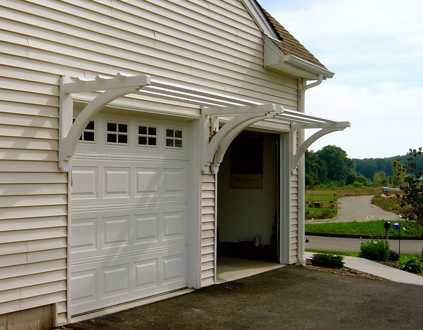 lovely garage with ideas over wow door interior home trellis on