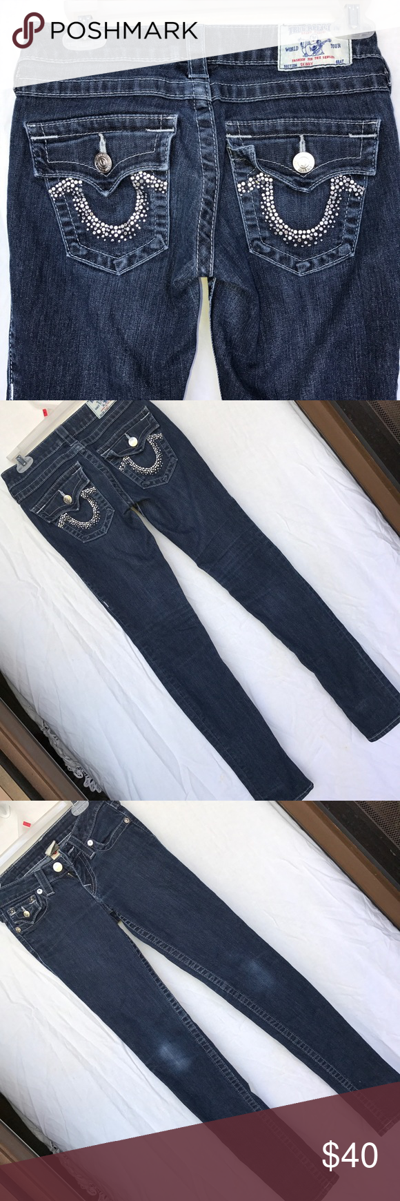 True Religion Denim Skinny Jeans 88% cotton, 10% polyester, 2% spandex True Religion Jeans Skinny