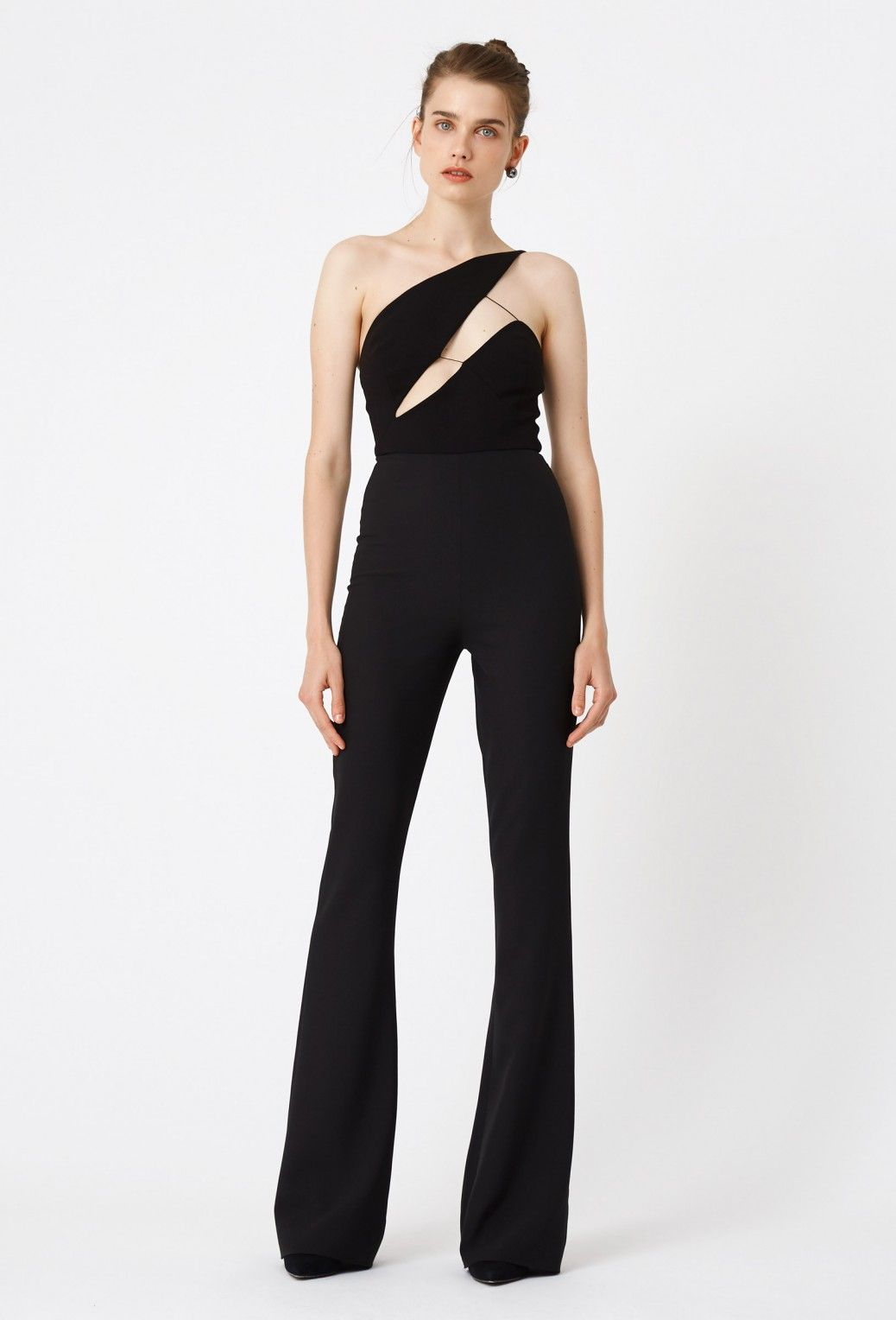 561fae9fdd51 Image 3 of AQ AQ Pembroke One Shoulder Jumpsuit · Black