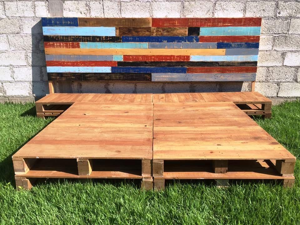 Diy Pallet Bed Frame With Headboard Cabeceras Camas Y