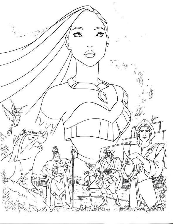 Disney Princes Pocahontas Coloring Pages Jpg X