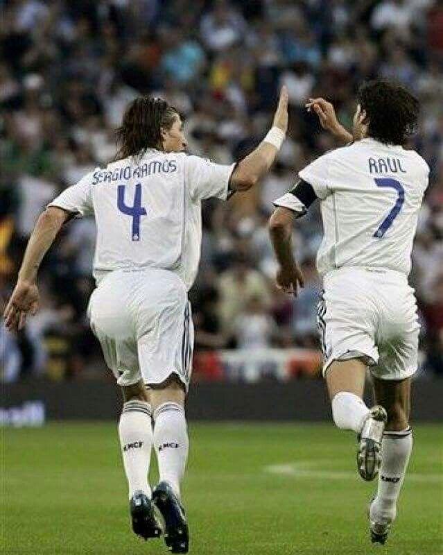 Sergio Ramos y Raúl | Leyendas blancas | Real madrid ...