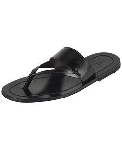 7cd4cd64d6ad Prada Men s Black Leather Thong Sandals  239 Overstock