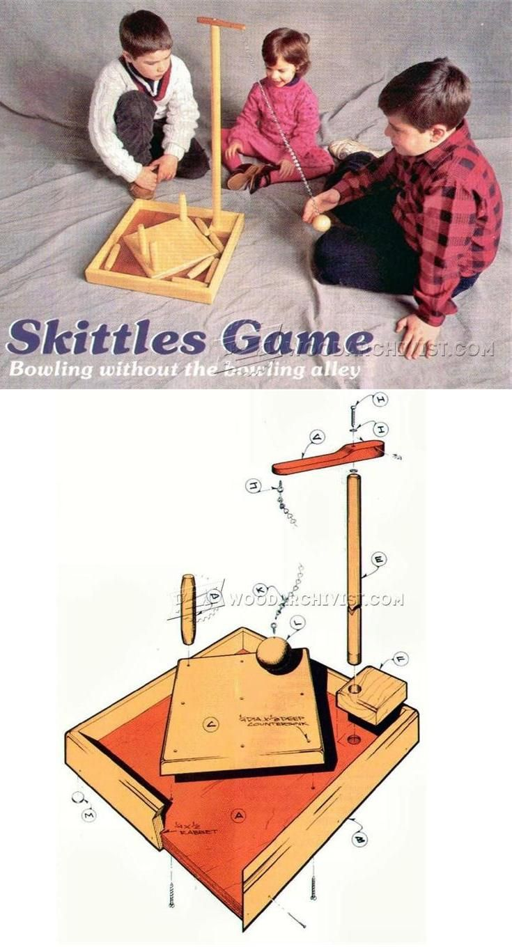 table skittles plans - wooden toy plans and projects
