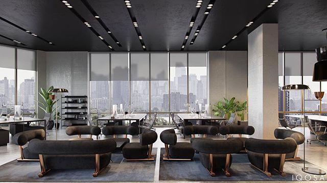 Modern Office Design #iqosa #interior #design #office Prepossessing Living Room Office Ideas 2018