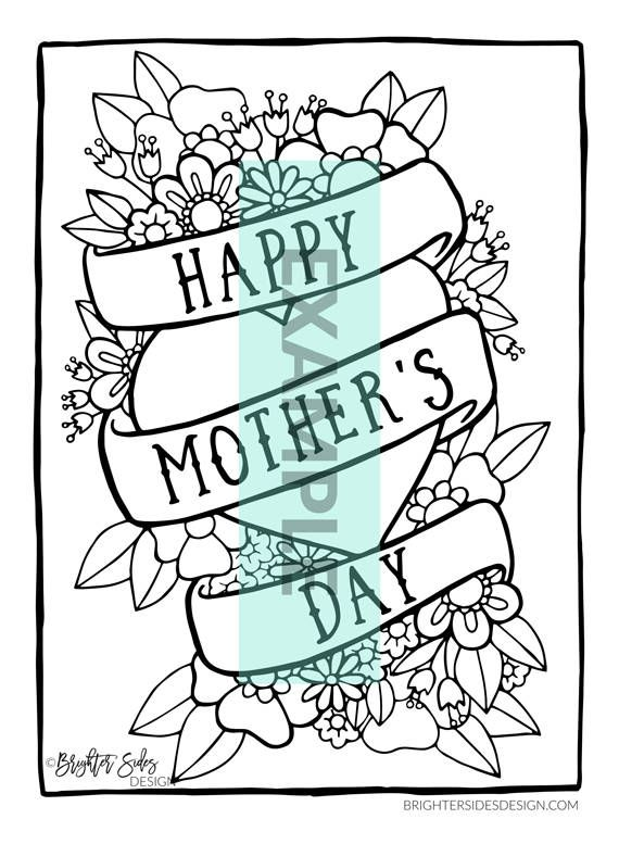 Coloring page for mom mothers day printable mothers day coloring book pages activity adult coloring coffee macaron illustration