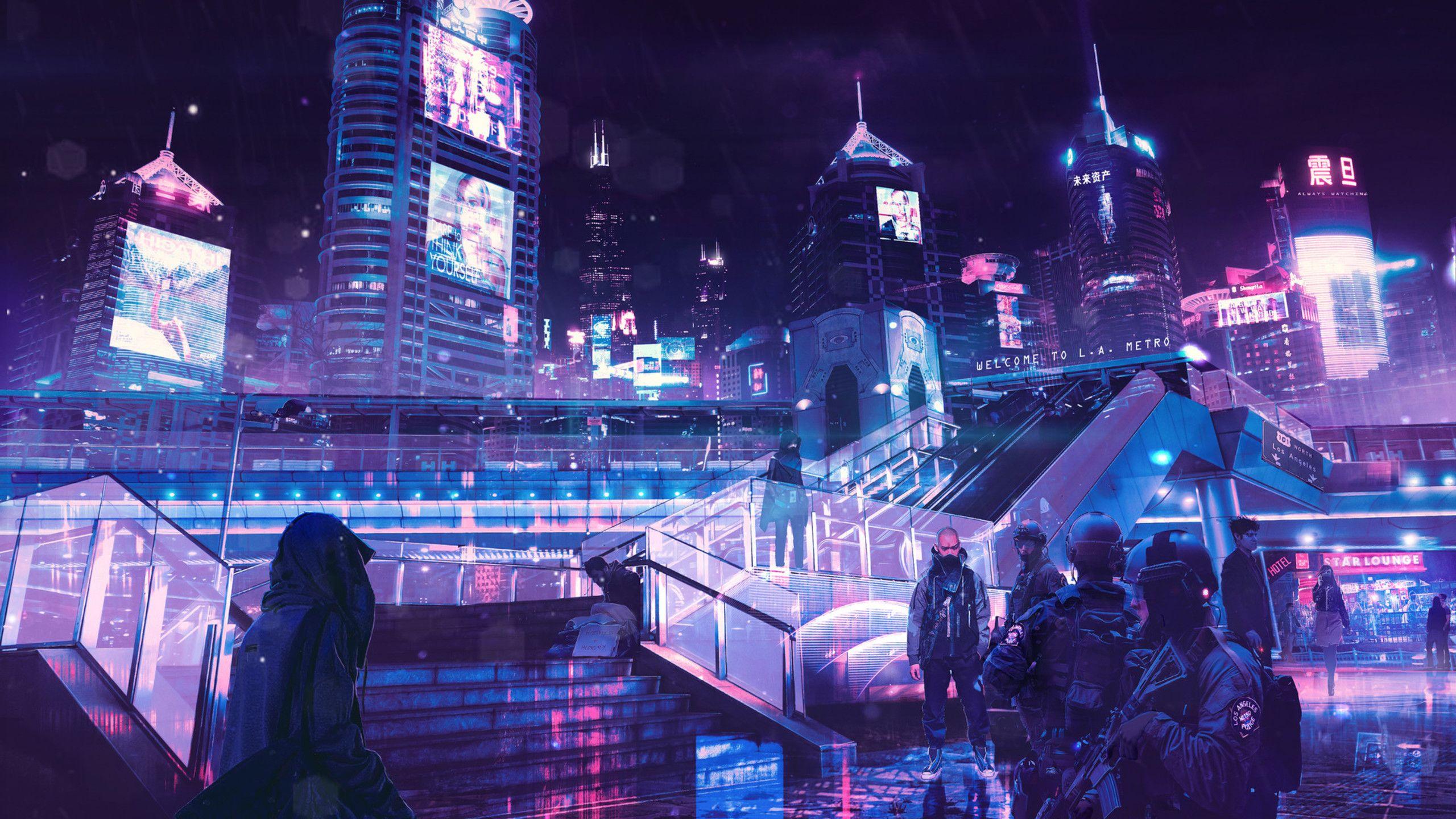 Cyberpunk Neon City S0 Jpg Cyberpunk City City Wallpaper Neon Wallpaper