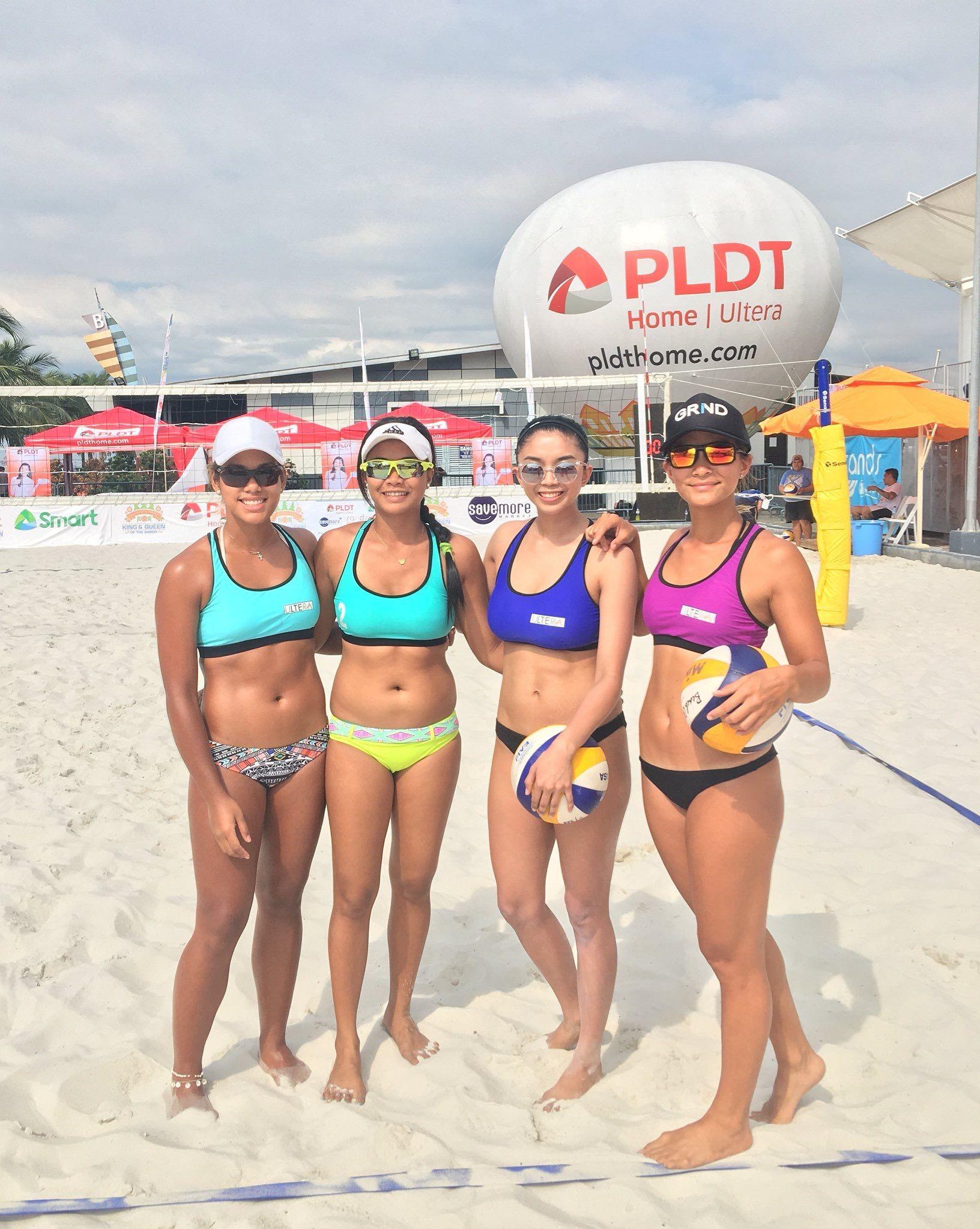Volleyball pinay beach Pretty Filipina