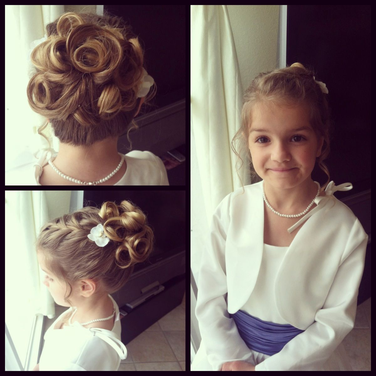 flower girl hair. rose shaped,princess updo! | my creations