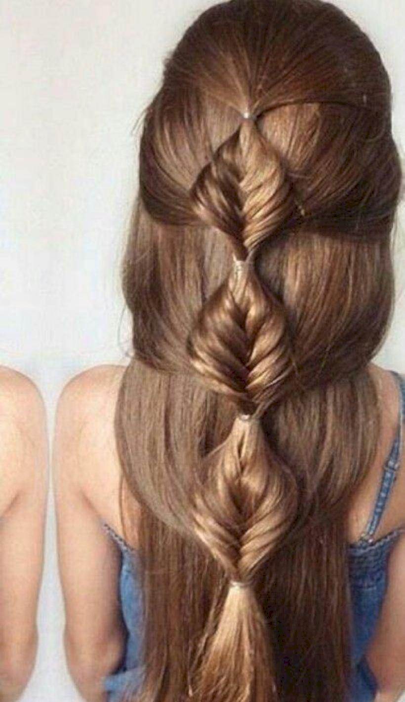 Unique Ideas to Style your Bubble Braids Hair Nail and Make Up