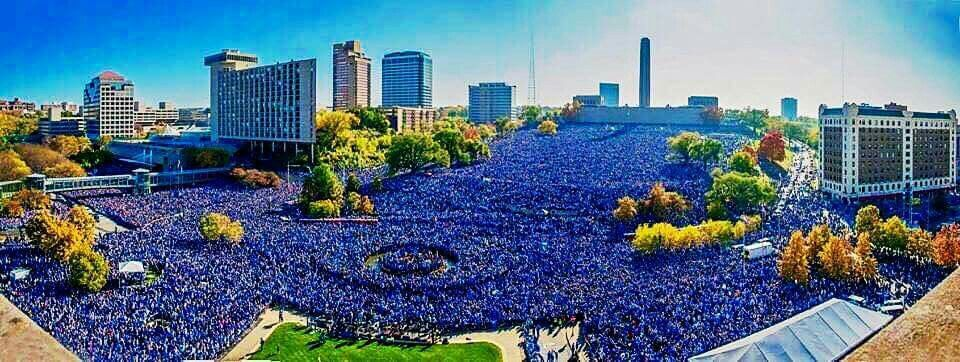 This sea of blue is 800,000 Kansas City Royals fans