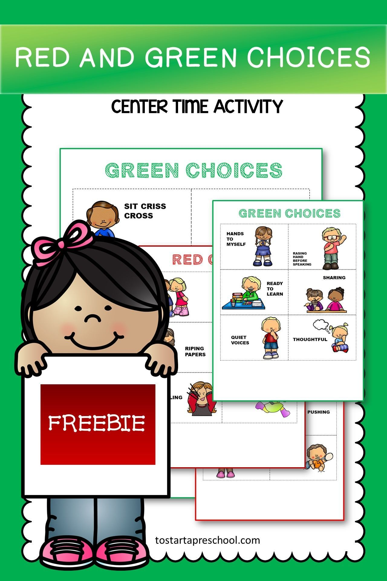 Red And Green Choice Cards