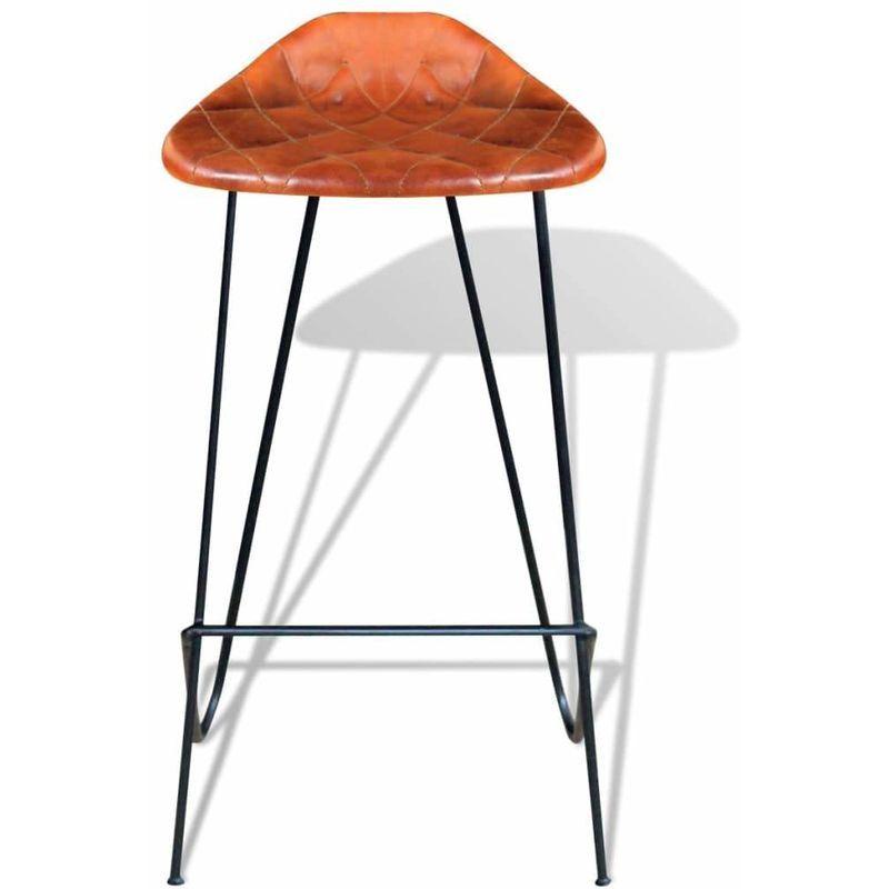 chaise de bar en cuir veritable
